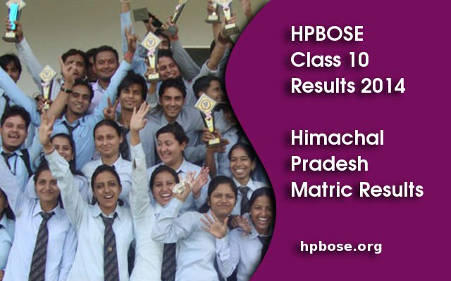 HPBOSE 10th Class Resuls 2014 – hpbose.org