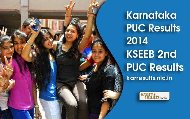 karresults.nic.in announced Karnataka PUC Results 2014 (KSEEB Results)