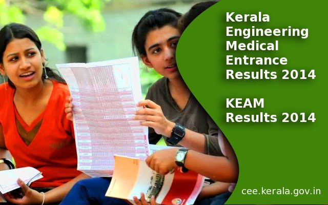 Kerala Entrance Results 2014 on cee.kerala.gov.in, KEAM Entrance Results 2014