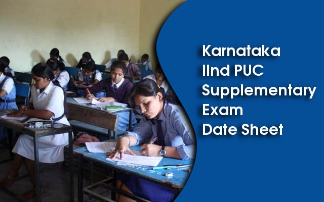 Karnataka 2nd PUC Supplementary Exam 2014 Date Sheet