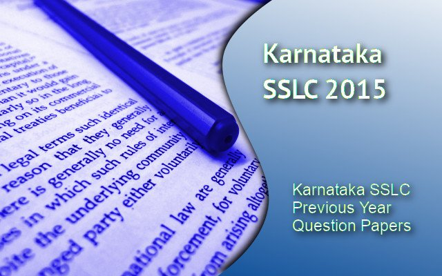 Karnataka SSLC  Previous Year Question Papers and Answers