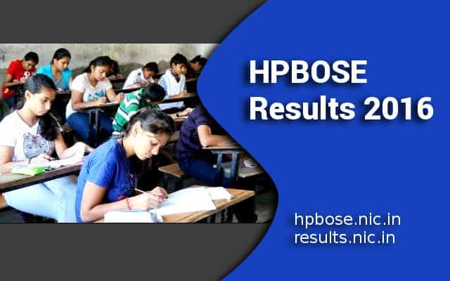 HPBOSE 12th Result 2016 with Pass Percentage of 78.93
