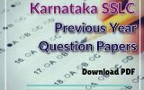 Karnataka SSLC Previous Year Question Papers
