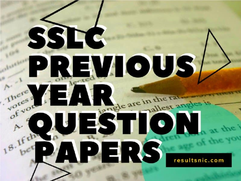 Kerala SSLC Previous Year Question Papers Maths Blog