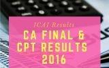 ICAI Result 2016