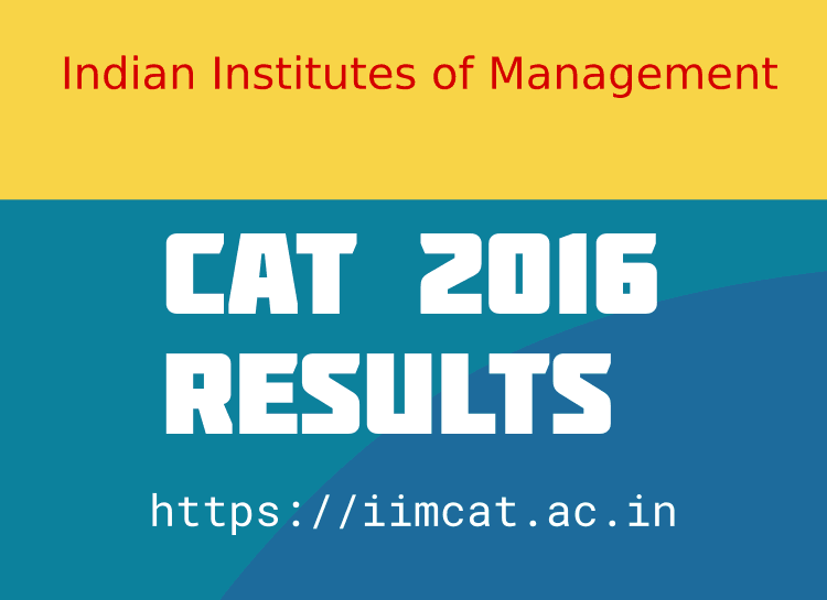 CAT 2016 Results Declared  – iimcat.ac.in