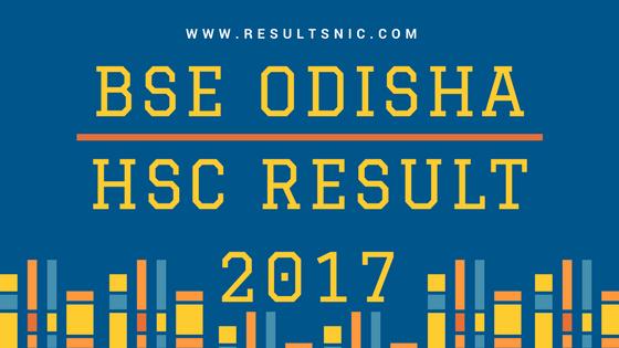 BSE Odisha HSC Result 2017