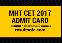Download MHT CET Admit Cards – dtemaharashtra.gov.in