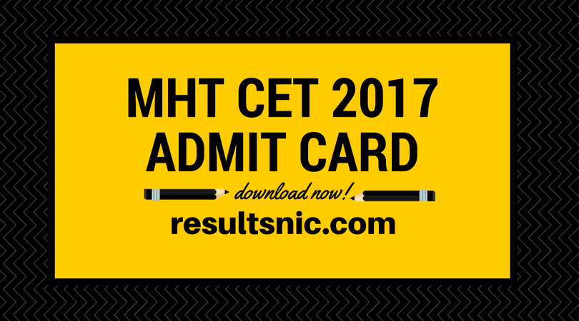 Download MHT CET Admit cards