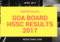 GOA Board HSSC Results 2017 expected on 27th April 2017 – GBSHSE Class 12th Results on gbshse.gov.in