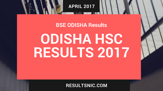 Odisha Board HSC Results 2017