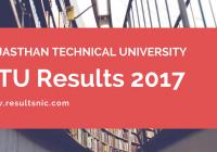 RTU Results 2017 declared – esuvidha.info