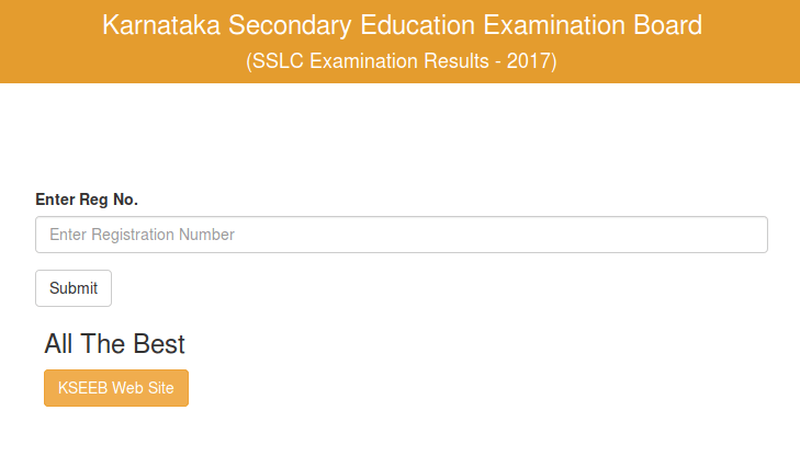 Karnataka SSLC Result 2017 Website