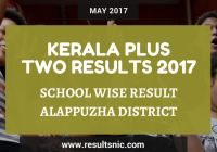 Kerala Plus Two Result 2017 School Wise Result Alappuzha District Codes
