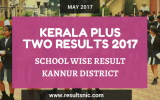 Kerala Plus Two Result 2017 School Wise Result Kannur District