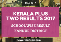 Kerala Plus Two Result 2017 School Wise Result Kannur District Codes