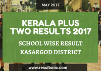 Kerala Plus Two Result 2017 School Wise Result Kasargod District