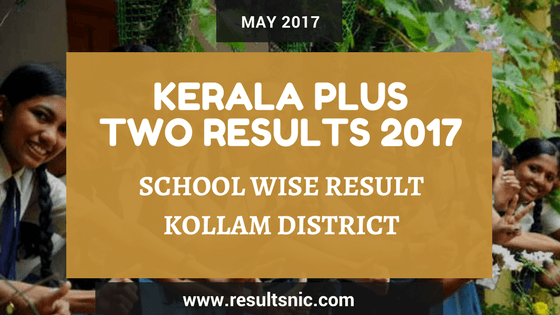 Kerala Plus Two Result 2017 School Wise Result Kollam District