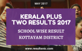 Kerala Plus Two Result 2017 School Wise Result Kottayam District