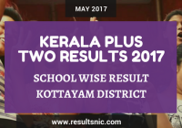 Kerala Plus Two Result 2017 School Wise Result Kottayam District Codes