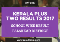 Kerala Plus Two Result 2017 School Wise Result Palakkad District Codes