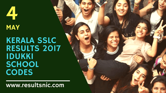 Kerala SSLC School Wise results Idukki District