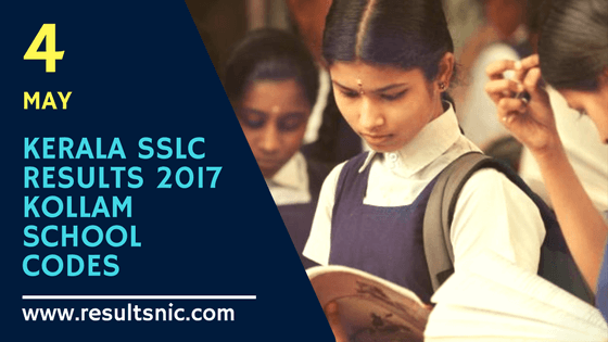 Kerala SSLC Results 2017 School Wise results Kollam District