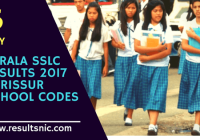 Kerala SSLC Results 2017 – School Codes and School Wise Results – Thrissur District
