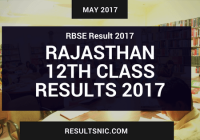 RBSE 12th Result 2017 – Rajasthan Board 12th Science and Commerce Result 2017