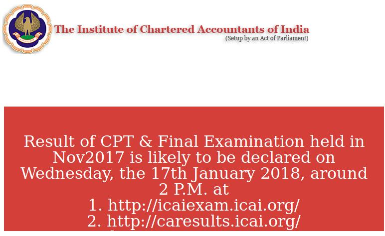 ICAI CA Result Website