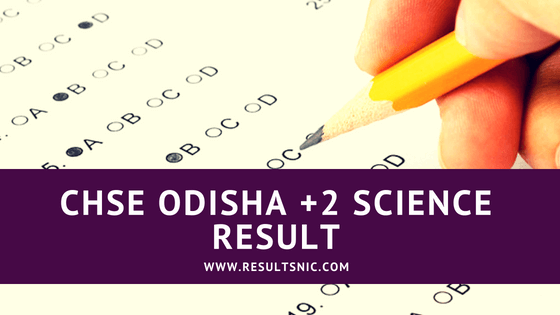 CHSE +2 Science Result 2018