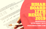 Bihar board 12th Intermediate results 2019