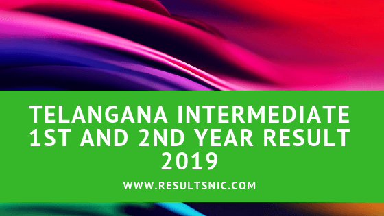Telangana Board TS inter results 2019