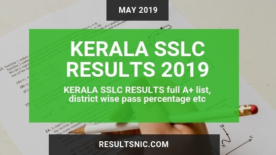 Kerala SSLC Results 2019 Full A+ Status