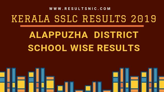 Kerala SSLC School Wise results Alappuzha District 2019