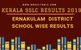 Kerala SSLC School Wise results Ernakulam District 2019
