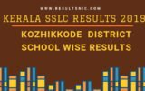 Kerala SSLC School Wise results Kozhikkode District 2019