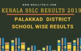 Kerala SSLC School Wise results Palakkad District 2019